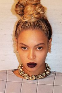 beyonce bun with braids