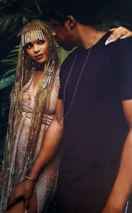 beyonce beaded braids bang