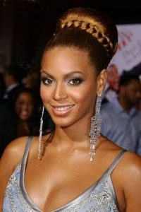 old beyonce braid bun