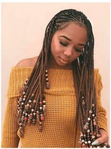 lemonade inspired bead braids
