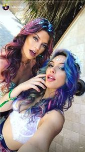 bright color hair coachella
