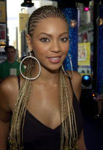blond corn row bey