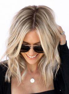 root short blonde creamy