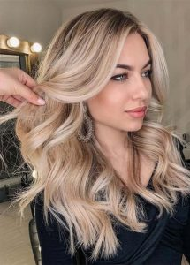 cream color blonde hair