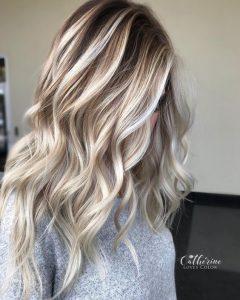 ice blonde highlights