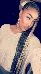 blonde braids with brown long