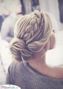 side braids size bun
