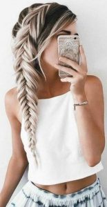 full side braid fishtails