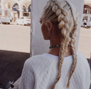 fishtail and dutch braiding