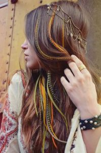 boho headpiece feather