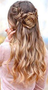half up flower knot