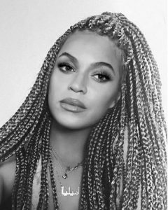 chunky blond bey braid