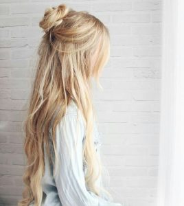 beach wave halfbun