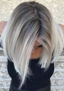 grey toned ombre blonde