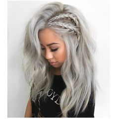 grey side braids