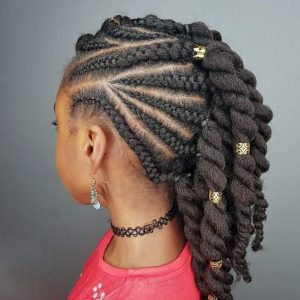 natural twist cornrows