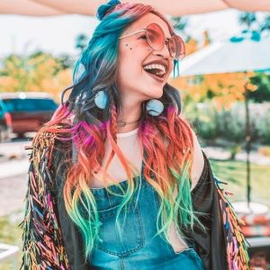 multi color hair coachella