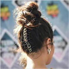 messy beach bun rings
