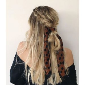 braids tied with scarf