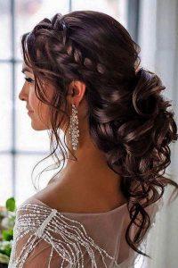 loose curl braid low