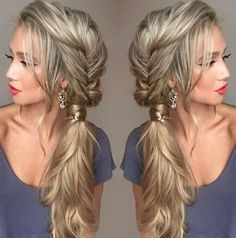pretty ponytail braid side