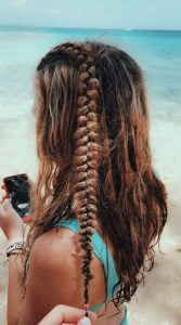 one braid with waves
