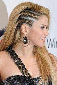 sharp side braids shakira
