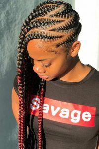 side braides with zigzag