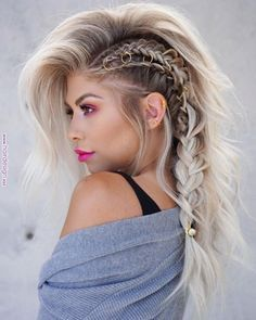 edgy two braids with sizing