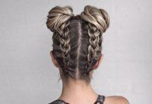 braids under buns