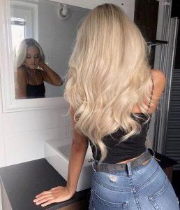 solid warm blonde