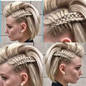 unique side braid short