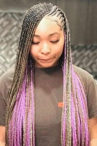 Blonde Purple Lemonade braids