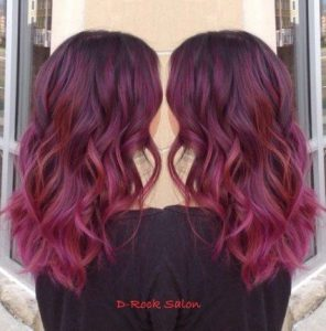 Mahogany and Magenta Melt