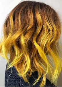 Stand Out Mustard Hair Color Melt