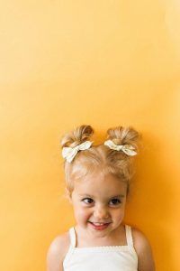 Adorable Double Top Knots