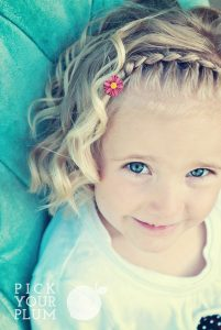 French Braid Headband and Ringlet Curls