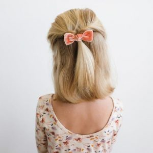 Half-Up Flipped Ponytail