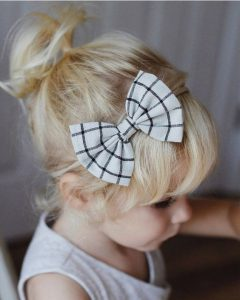 High Ponytail with Bang and Bow