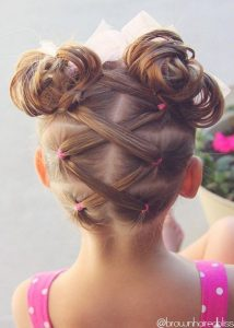 Laced Ponytails with Pigtails