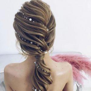 pearl weave ponytail