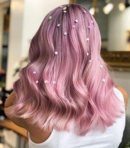 pink star hair