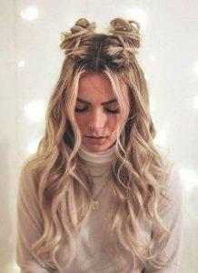 bun braid holiday hair