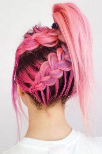 double under braid ponytail