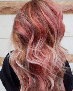 bright red blonde lights