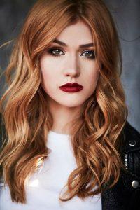 subtle red blonde mix