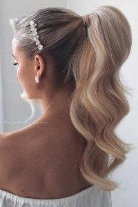 hollywood glam ponytail