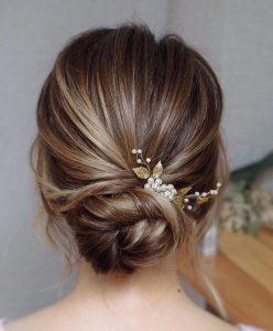 pearl clip bride bun