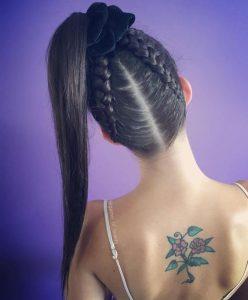 pigtail braid ponytail