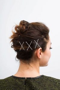 updo pins white